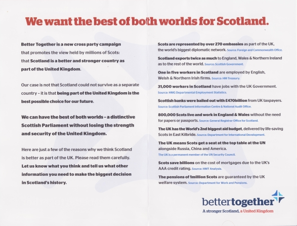Inside the Better Together leaflet!